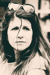 Portrait (Natali Antonovich) Tags: brussels portrait monochrome sunglasses belgium belgique belgie stare sweetbrussels