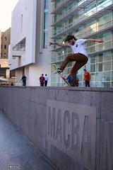 Macba FS Blunt (FloArmengaud) Tags: barcelona bcn slide espana skate skateboard macba blunt fs cataluna