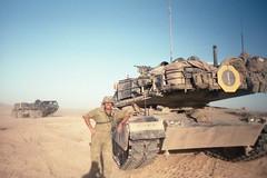 In the Desert south of Boise / early 1990's (Digital Vigilante) Tags: tank m1 abrams usarmy boiseidaho armynationalguard early1990s m1abrams orchardtrainingarea