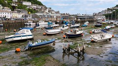 Looe Cornwall (brwestfc) Tags: house reflection water harbor boat cornwall tide low looe
