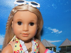 Julie (Foxy Belle) Tags: americna girl ag julie doll 1970s blonde long straight hair brown eyes historic character albright summer beach
