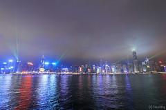 Symphony of Lights (tomosang R32m) Tags: light night hongkong illumination promenade  kowloon   tsimshatsui victoriaharbour symphonyoflights yakei