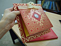 Got invited to a wedding... (karlahovde) Tags: wedding red gold invitation fancy posh luxe