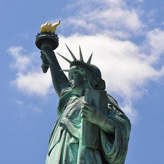 Lady Liberty (London Tom) Tags: nyc newyorkcity travel sky usa ny clouds america square freedom nikon scenery unitedstates scenic historic squareformat statueofliberty ellisisland ladyliberty skyporn nikond90 londontom iphoneography travelgram tmcox instagramapp uploaded:by=instagram riverislandphotography instatravel