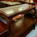Mahogany and glass low table