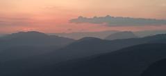 Recession (Northaway Photography) Tags: sunset sky mountains clouds landscape scotland landscapes haze hills trossachs