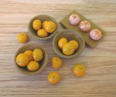 Tangerines (MurderWithMirrors) Tags: tangerine fruit miniature bowl citrus kotatsu oranges rement mandarinoranges mwm doraemonrailwaytrain