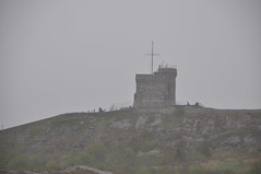Cabot Tower- so near and yet so far (oldandsolo) Tags: canada nfl stjohns signalhill badweather coastaltown cabottower localhistory heavyrain lookoutpoint communicationscentre easterncanada newfoundlandandlabrador downtownstjohns