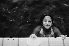 Fish Face. (lebramlett721) Tags: portrait blackandwhite bw lake silly girl lensbaby nikon child d600 seeinanewway edge50