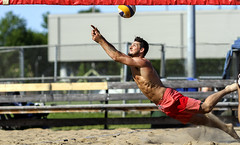 Beach Dig (Beach Volleyball.) Tags: diving beach dig volleyball sand photo photography athletic ball beachdig beachvolleyball summer june sport action dannyboy joliette quebec canada canon 7d