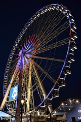 ROUE DE PARIS (shreyak25) Tags: blue red vacation sky holiday paris night europe cityscape bright flikr