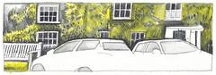 Cottages & Cars - Burnham Market, Norfolk (jimartgames) Tags: pub cottage northnorfolk inktense