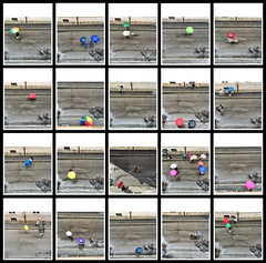 Umbrellas #1, 2014 (Lexi Blue) Tags: street color salzburg umbrella colorful bright colored farbe farbig birdseyeview bunt iphone vogelperspektive regenschirm 2ndfloor strase