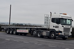 Explore Transport AT93 FN64 XCP A5 Rugby Truck Stop 18/3/16 (CraigPatrick24) Tags: road truck rugby cab transport explore lorry delivery vehicle trailer a5 scania logistics flatbed ws stobart at93 flatbedtrailer scaniar450 rugbytruckstop wstransportation exploretransport fn64xcp
