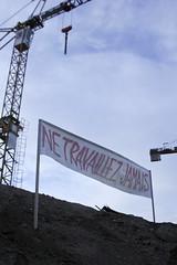 Ne Travaillez Jamais (Intervention) (Vladimr Turner) Tags: art construction ne strasbourg publicart gentrification activism turner urbanism intervention jamais situacionism travaillez situacionist