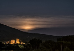 the moon behind (brucexxit) Tags: italy moon moonlight viterbo lazio laquercia tusci tusciaviterbese madonnadellaquercia