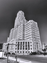 City Hall, Buffalo NY. (jrcrespinphoto) Tags: city blackandwhite architecture buildings buffalo cityhall artdeco buffalonewyork