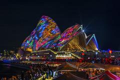 A splash of colors (merbert2012) Tags: longexposure travel people colour fun reisen nikon australia worldheritagesite sydneyharbour sydneyoperahouse indigenouspeople nikond800 vividsydney