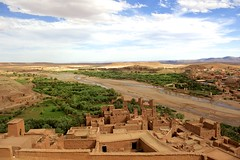 DSC2849  At Benhaddou. (najeebmahmud) Tags: africa blue trees sky green nature water architecture clouds river landscape nikon village awesome bluesky hills morocco nikkor 2470mm d810 nikond810 nikkor2470mm