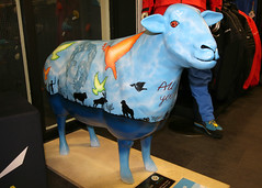 Yoko 'Ewe'no (Cumberland Patriot) Tags: king sheep painted centre go kong climbing cumbria trust yoko keswick calvert ewe cumbrian herdwick goherdwick eweno