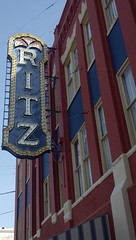 The Ritz, Brunswick, GA - IMGP4377 (catchesthelight) Tags: brunswickgeorgia ritztheater oldcityhall kressbuilding richardsonromanesque queenanne architecturaldetails newcastlest goldenisles ga georgia coastalgeorgia