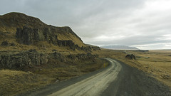 the long and winding road (lunaryuna) Tags: voyage road travel mountain landscape iceland rocks solitude fences lunaryuna northwesticeland jourmey lightmood