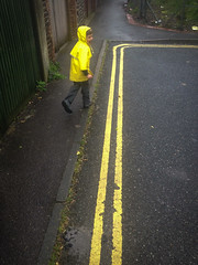 School Run Rituals (The Double Yellow Line Race)_05 (a roving eye) Tags: boy yellow brighton child run doubleyellowlines iphone paulmansfield schoolrun arovingeye
