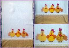 Panos de prato em Patchwork! (Cantinho do Patch by Talissa) Tags: patchwork galinhas panodeprato