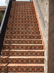 Tiled stairs (Anika Malone) Tags: stairs losangeles mtwashington tiles architecturedetails ramonahall