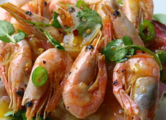 Prawns in Shells (Tony Worrall Foto) Tags: uk sea england food hot fun photo dish image north cook shell tasty plate prawns eaten eat chef seafood taste cooked bits seas foodie flavour sorted tasr eeaten 2013tonyworrall