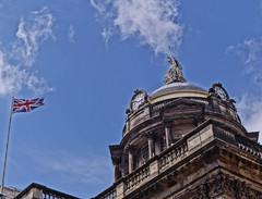 Town Hall, Liverpool (Bev Goodwin) Tags: england architecture liverpool townhall unionjack hdr merseyside unionjackflag sonya37