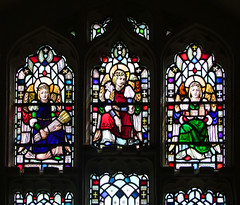 three Edwardian angels by Hugh Arnold (1910) (Simon_K) Tags: nethergate saxlingham