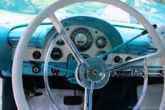 SteeringWheel (Heather Tyson) Tags: show blue windows white dice ford beautiful car wall wings power fuzzy colonial engine peacock victoria tires chrome seats restored crown 1956 thunderbird luxury 56 fins fairlane