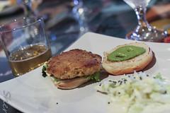 Smoked Salmon Slider with Ramp Aioli (sheryip) Tags: food ramp with yum salmon grill slider morgantown smoked aioli richwood delicoius