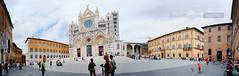 Duomo di Siena (*Emilio Giordano) Tags: panorama church landscape italia chiesa panoramica siena piazza duomo toscana bianco nero