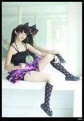 nEO_IMG__MG_4132 (c0466art) Tags: school light portrait cute girl beautiful female canon big eyes asia doll long pretty legs gorgeous mini skirt 5d lovely charming c0466art sweet attractivetaiwan
