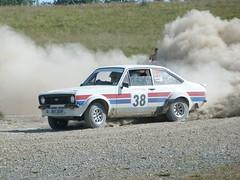 Car 38 (Abercarn Chris) Tags: ford southwales lumix panasonic rallying subaruwrc msport epynt nickygriststages britishrallying