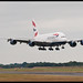 BA's mighty A380 performs a low overshoot!