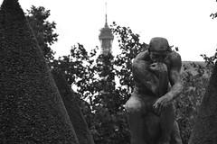 the Thinker (MicheleSana) Tags: from summer sculpture white black paris tower love nikon thinker july eiffel whit rodin parigi luglio 2013