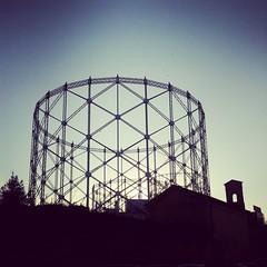 Gazometri in controluce (Armando Moreschi) Tags: roma gas controluce gazometro ostiense armandomoreschi instagram italianeography