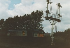 "Trainload Coal Class 58, 58049 ""Littleton Colliery"" (37190 ""Dalzell"") Tags: bone worksop class58 triplegrey 58049 trainloadfreight trainloadcoal littletoncolliery"