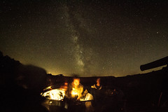 Chilling By The Milky Way (ssgmacdawg12345) Tags: moon college night dark stars paul nikon time shane adirondacks smiths psc garlock d3100