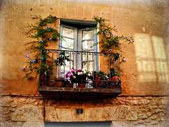 BALCONES DE BURGO DE OSMA - SORIA (Infinita_) Tags: espaa flores spain soria balcones burgodeosma castillaleon bestcapturesaoi ciudaddeosma mygearandme mygearandmepremium photographyforrecreation