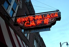 King's Palace Cafe (Cragin Spring) Tags: street city urban music sign st vintage cafe neon tn dusk memphis tennessee jazz neonsign bealestreet oldsign beale memphistn vintagesign bealest memphistennessee kingspalacecafe
