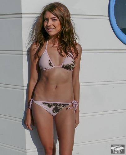 Your place bikini brunette girl in consider