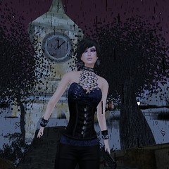 Zibska Full- necklace & earrings (Hidden Gems in Second Life (Interior Designer)) Tags: halloween makeup free jewelry freebies zibska