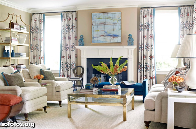 Linda sala de estar decorada