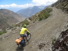 Climbing to Punta Chucopampa