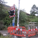 Balnacra Level Crossing - barriers being installed thumbnail