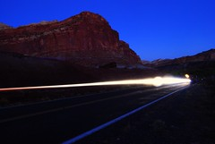 Streak (janeally) Tags: light lightpainting night streak headlights capitolreef extendedexposure capitolreednationalpark uploaded:by=flickrmobile flickriosapp:filter=nofilter